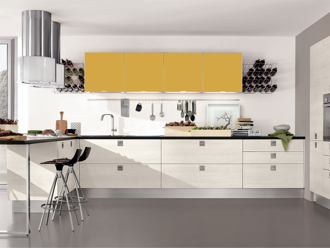 Kitchen kitchen set two tone frame made from natural for Kitchen set natural
