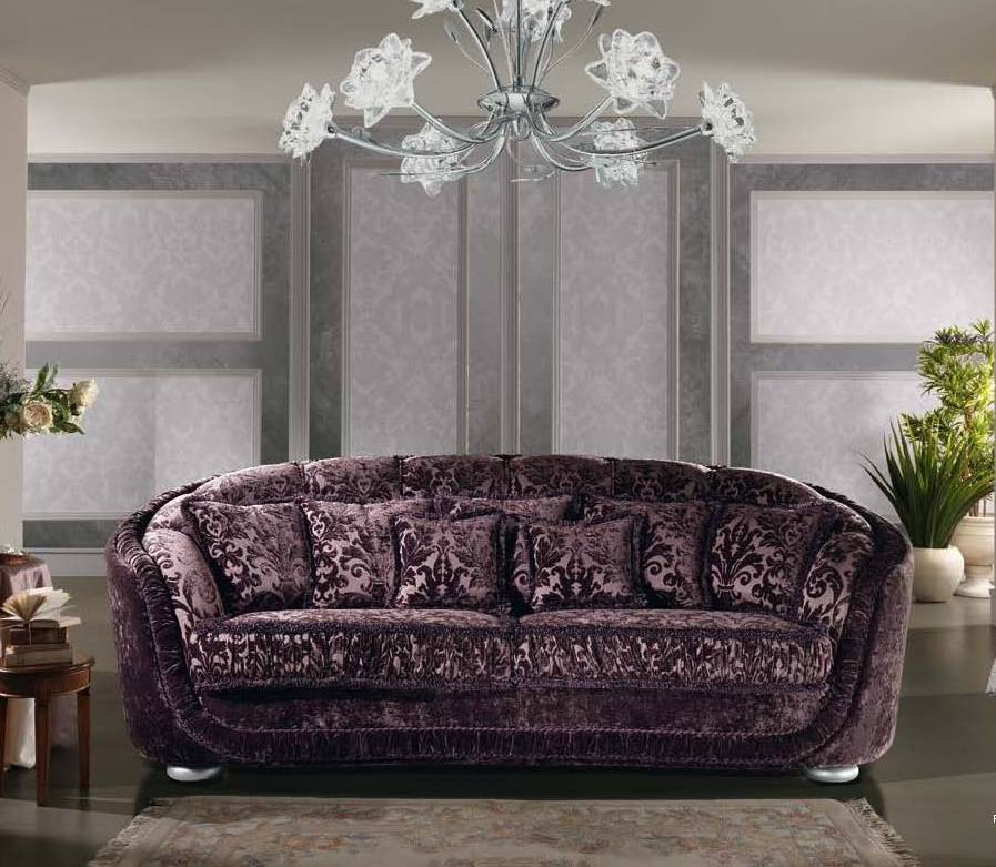 Two Seater Sofa In Fabric Glamour