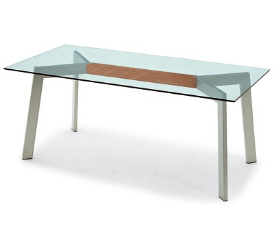 Dining table with metal legs calligaris luxury furniture mr for Calligaris giuseppe