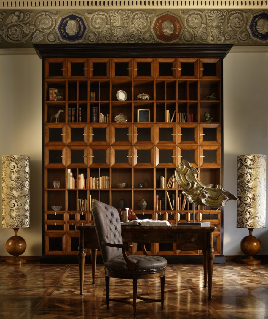 The bookcase is made from solid cherry, Annibale Colombo