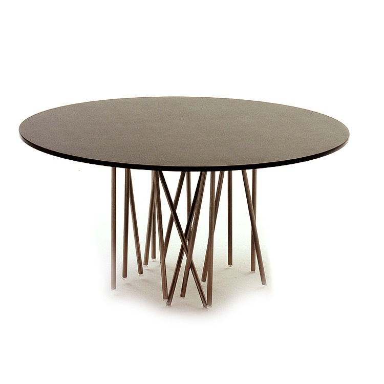 Coffee table with frame made of metal and laminate worktop Octopus