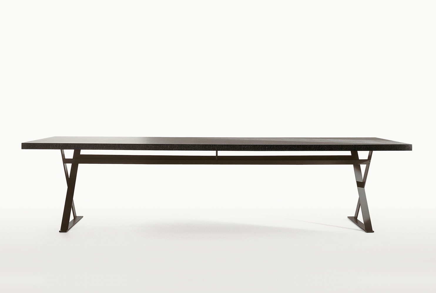 Picture of: Dining Table On Metal Frame With Wooden Table Top Max B B Italia Luxury Furniture Mr