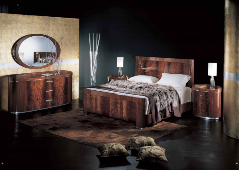 Bedroom Set In Lacquer Finish Giorgio Collection