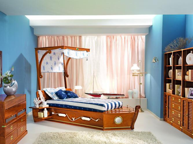 "Children's bed ""Ship"" Calafuria, Caroti"