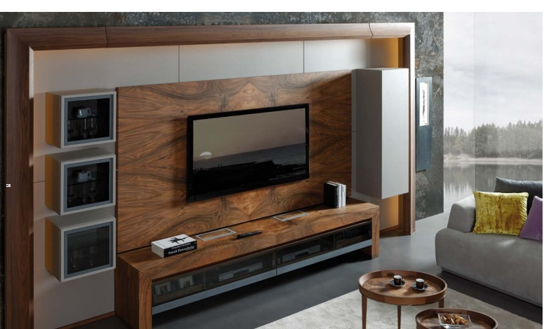 Furniture for TV of wood in the finishing varnish Amon