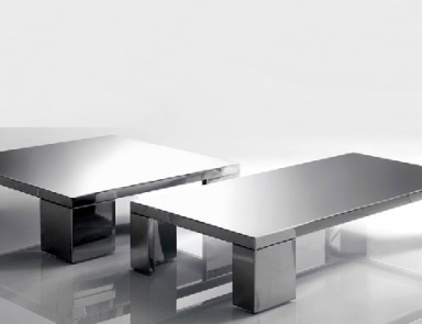 Coffee table metal with glass top Round Bontempi Casa Luxury