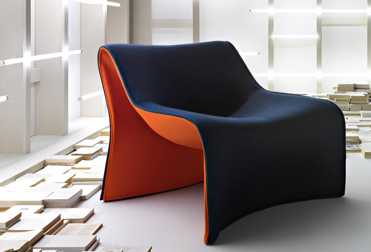 181 CLOTH Chair With Upholstery, Cassina