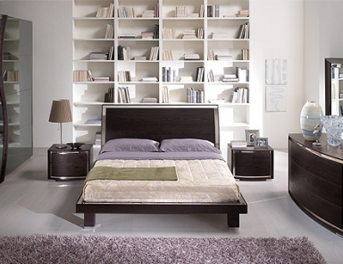 double bed with upholstered headboard bed roses provasi. Black Bedroom Furniture Sets. Home Design Ideas