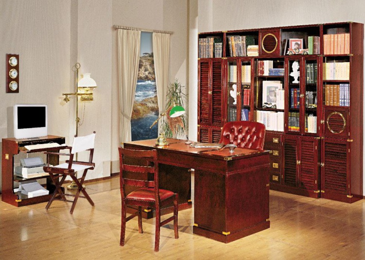 Writing Desk with leather top Vecchia Maria Caroti