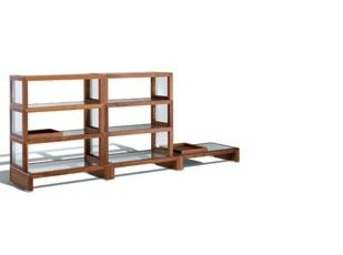 The rack is made of maple or walnut and glass Screen, Giorgetti