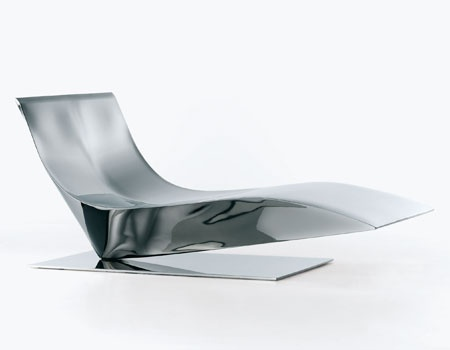Armchair Chaise Longue With Frame And Base Made Of Metal Lofty