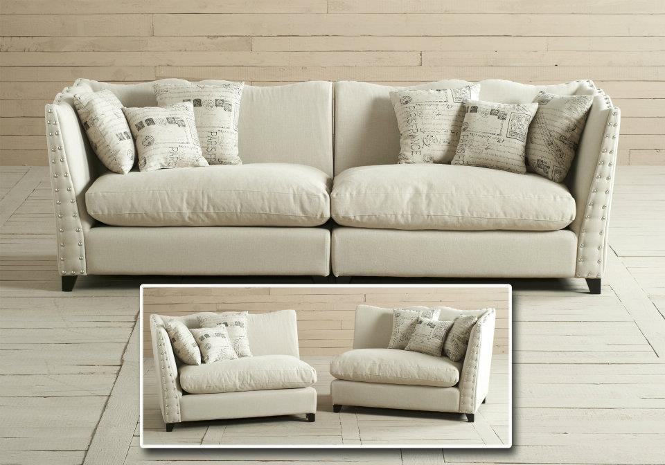 Three-seater sofa made of solid wood, Dialma Brown - Luxury ...
