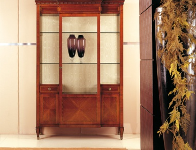 Sideboard 4 doors solid wood with carved decoration bovary for Turri arredamenti