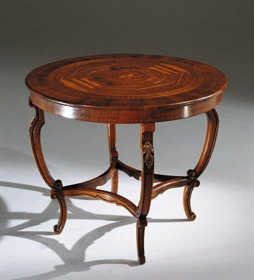 coffee table with a round top palmobili luxury furniture mr. Black Bedroom Furniture Sets. Home Design Ideas