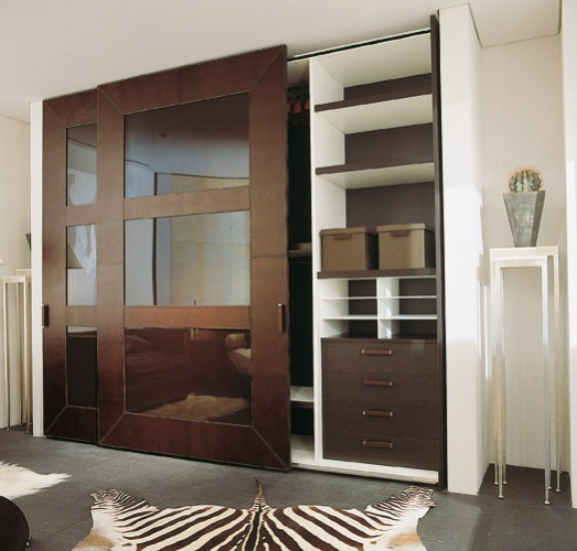 Cabinet with leather upholstery PIV T, Rugiano