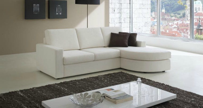 Corner Sofa With Rounded Chaise Atos