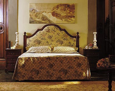 Bed with high headboard - DOLFI