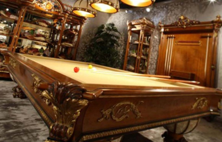 The billiard table, Riva Mobili d'arte