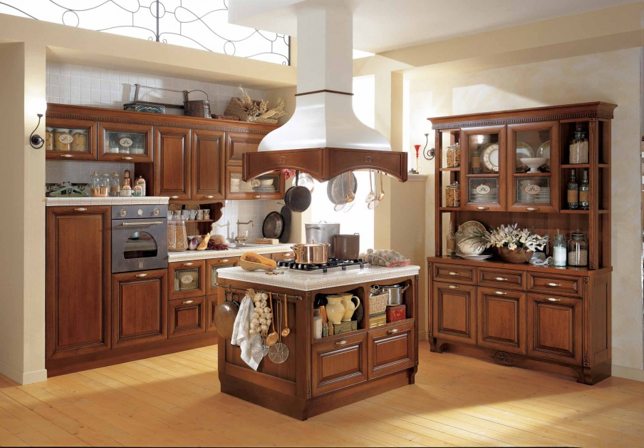 Wondrous Kitchen Kitchen Set In The Veneer Finish Sintonia Aster Cucine Beutiful Home Inspiration Xortanetmahrainfo