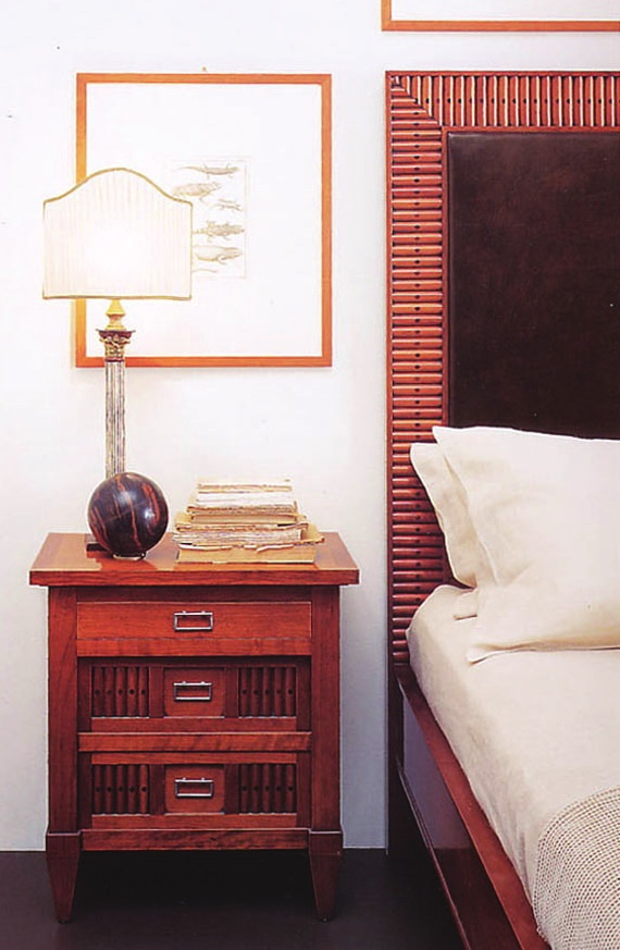 Bedside table from solid cherry H1306, Annibale Colombo