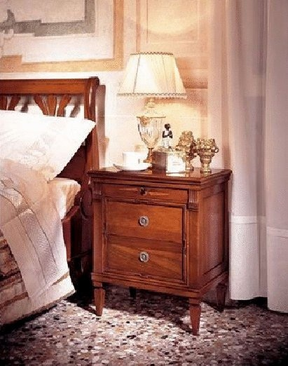 Bedside Cabinet with housing made of solid wood Brotto Arte, Arte Brotto