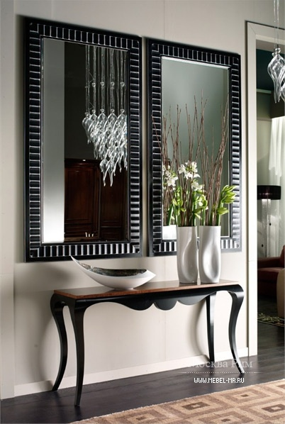 Wall mirror with frame in solid wood Brotto Arte, Arte Brotto