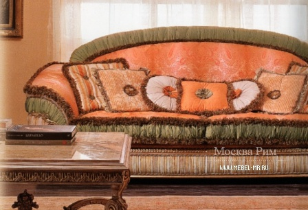 Three-seater sofa on a frame of solid wood covered with a cloth 6623, Riva Mobili d'arte