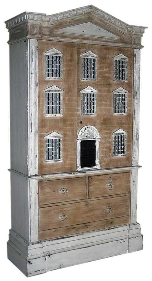 Storage Cabinet carved Dolls House, Andrew Martin