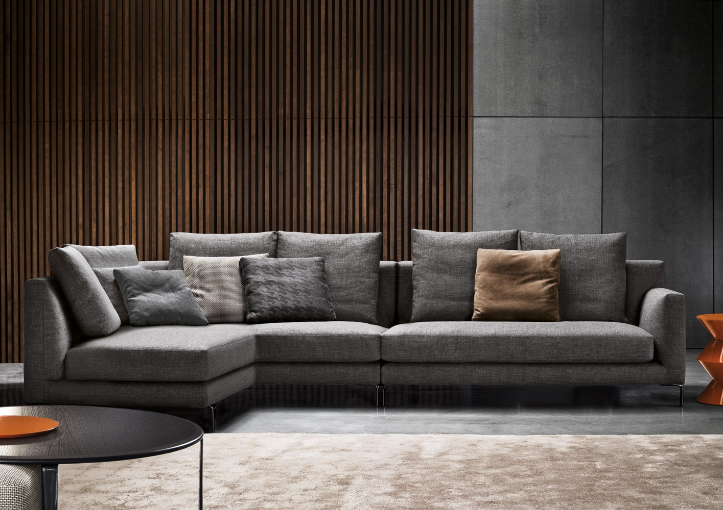 Modular sofa allen minotti luxury furniture mr for Sofas grandes modernos