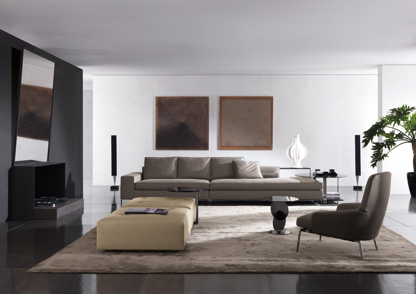 Modular sofa for rest williams minotti luxury furniture mr for Minotti outlet italy