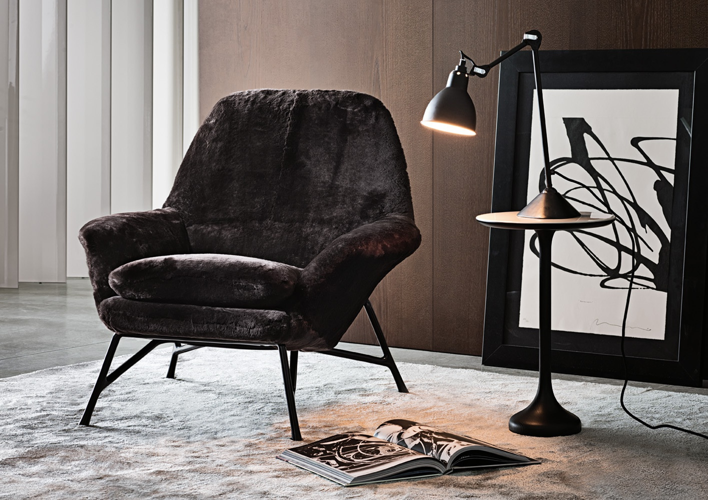 Chair With Ottoman Foot Prince Minotti Luxury Furniture Mr
