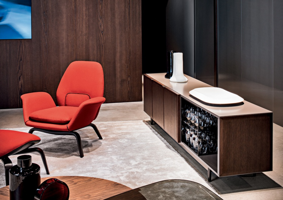 Sideboard with drawers and hinged doors minotti luxury for Minotti outlet italy