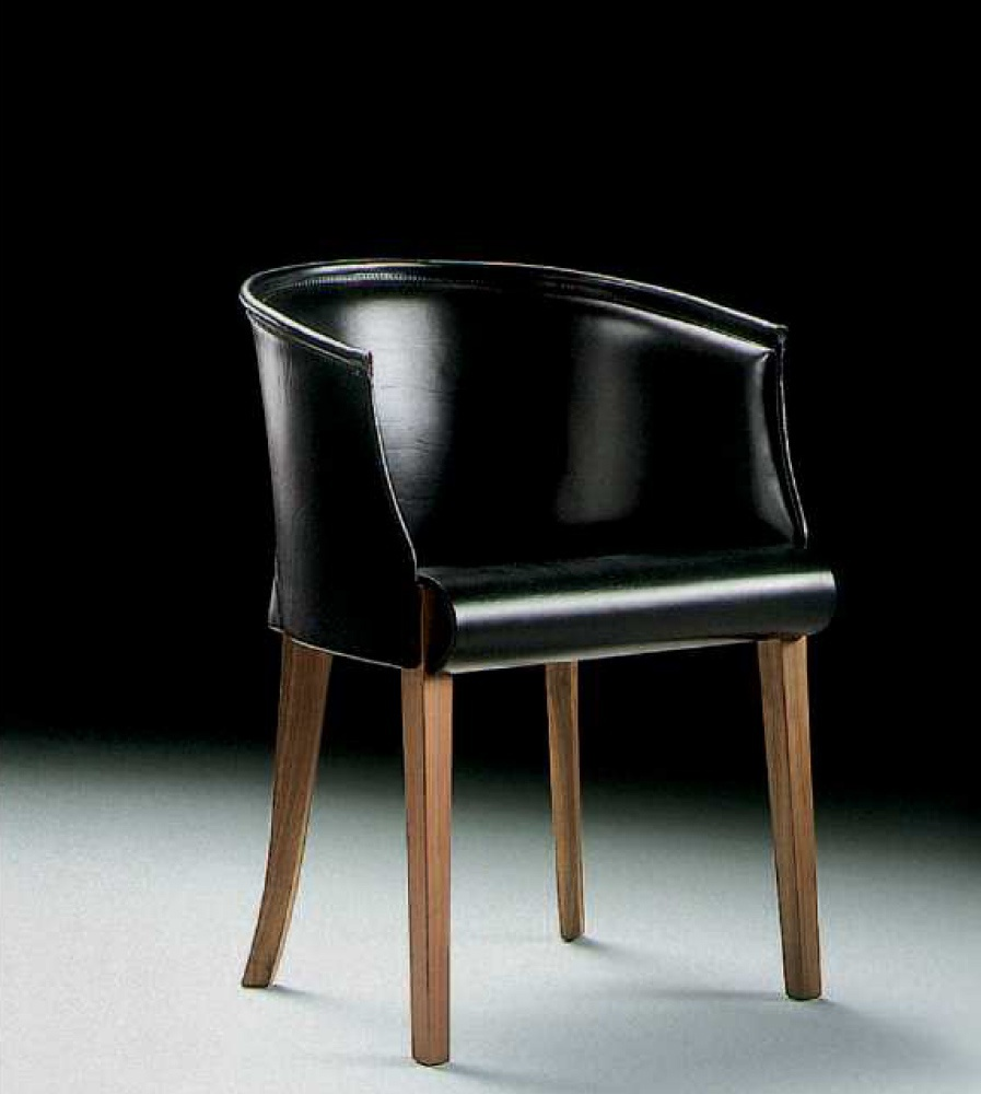 Chair Leather Upholstered Body Flexform Luxury Furniture Mr