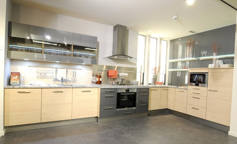 Kitchen Set With Corner Work Surfaces Of Stone Stormer