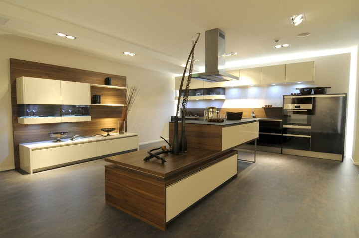 Kitchen set with led system in the finishing varnish and veneer stormer kuchen luxury - Cuisine stormer kuchen ...