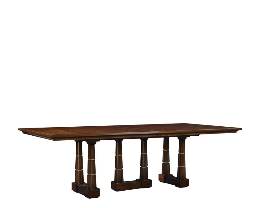 table column dining table mahogany baker luxury furniture mr