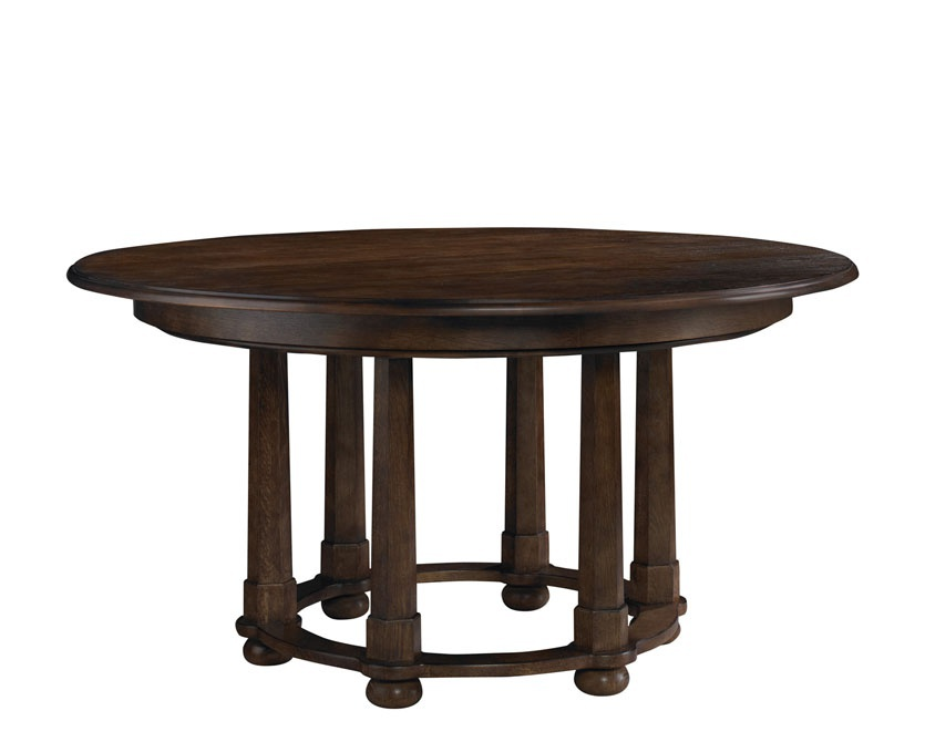 Table Morris Round Dining Table Mahogany Baker Luxury Furniture MR