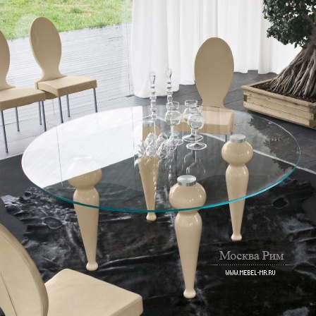 Dining table with curly legs, Tonin casa