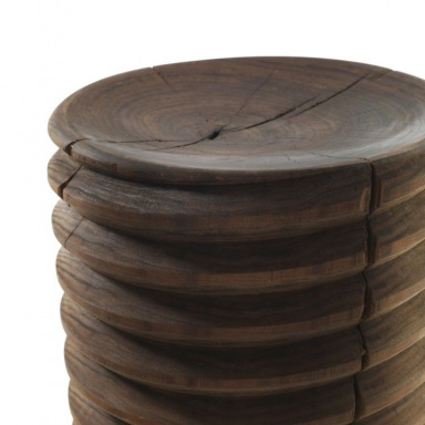 A Stool Made Of Wood Of Cedar Or Walnut Vitae Riva 1920