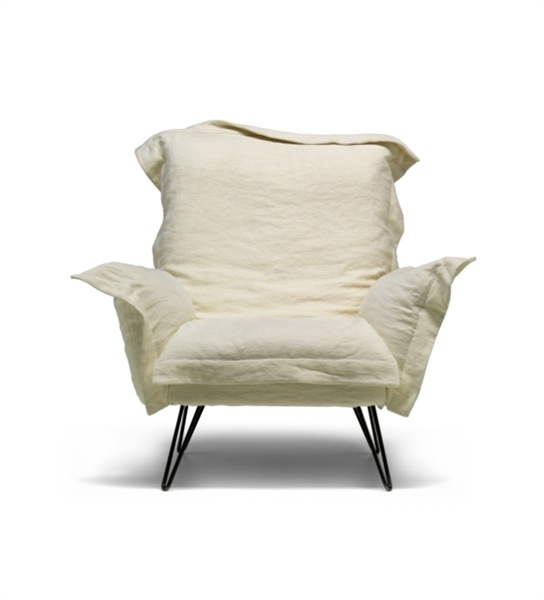 Armchair upholstered in fabric Cloudscape Moroso Luxury