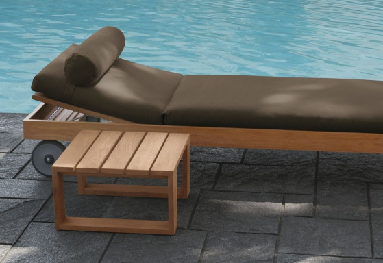 The sun lounger for garden Square