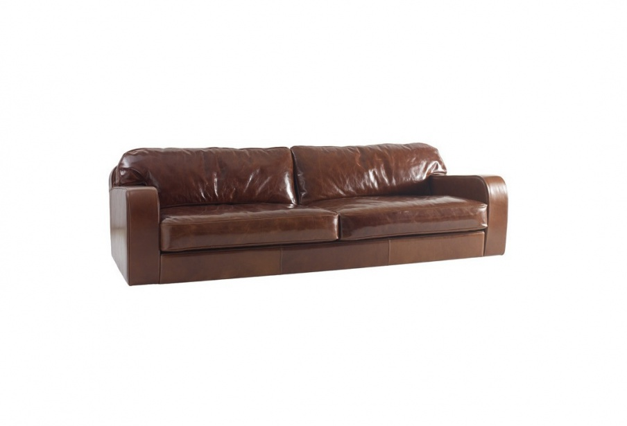 the four seater sofa in leather obuke with removable