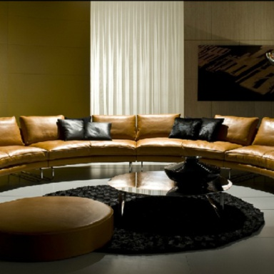 Circular Leather Sectional