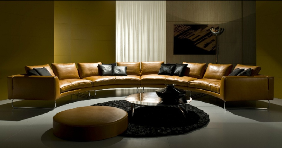 Semi Circular Sofa Add Look Round I4 Mariani Luxury