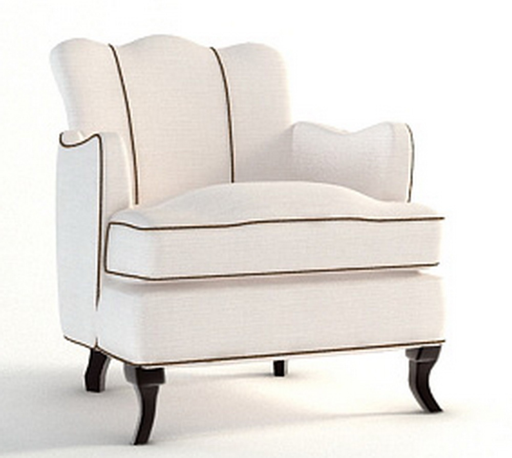 Chair With Shaped Backrest In Fabric Barbara Barry Luxury Furniture Mr