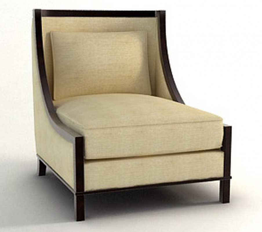 Chair With Hard Armrests Made Of Solid Wood Barbara Barry