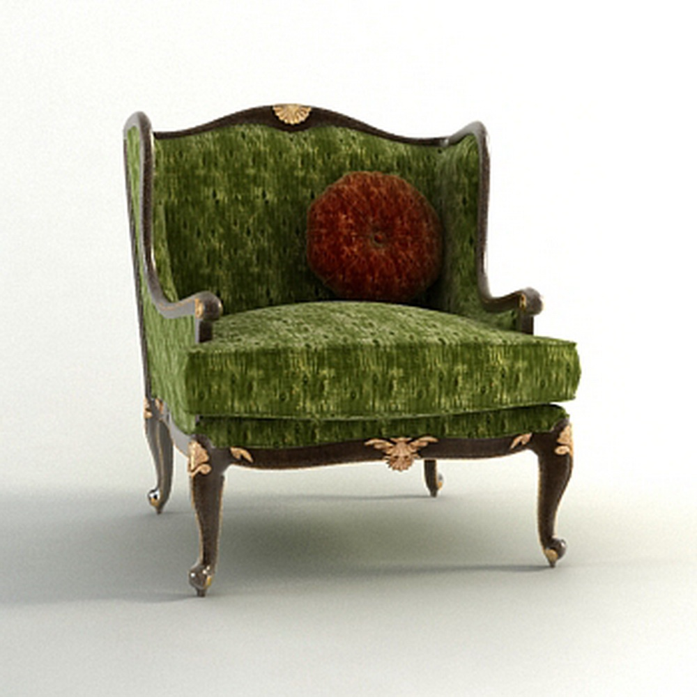 Chair With Shaped Backrest In Fabric Barbara Barry