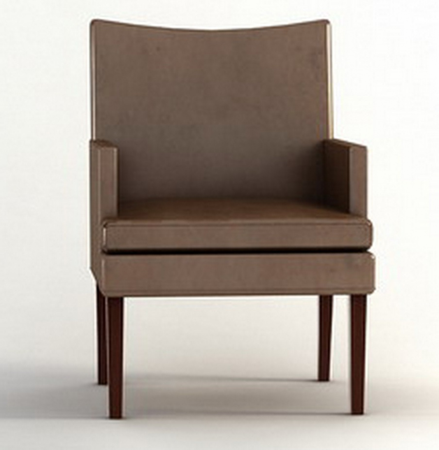 Chair In Leather Upholstery Barbara Barry Luxury