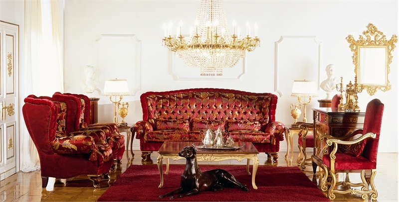 Collection of upholstered furniture Royal sitting-room, Zanaboni