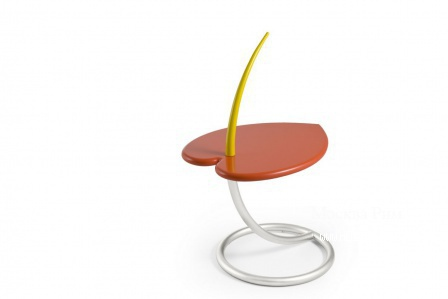 A coffee table on a metal frame Anthurium, Edra